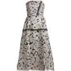����� ��� ��ǥ����� ���ԡ��� ���ԡ������ɥ쥹 Lydney leopard-brocade dress Silver and black