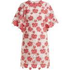 �����Хƥ����� �Х� ��ǥ����� ���ԡ��� ���ԡ������ɥ쥹 Floral guipure-lace dress Tonal-pink and white