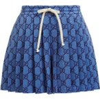 ���å� Gucci ��ǥ����� ���硼�ȥѥ�� �ܥȥॹ���ѥ�� GG pleated technical-jersey shorts blue