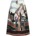 �������ƥ��� VALENTINO ��ǥ����� �Ҥ��楹������ �������� Embellished silk-jacquard midi skirt Multicolor
