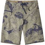 "パタゴニア メンズ 海パン 水着・ビーチウェア Patagonia Stretch Wavefarer 21"" Board Shorts Valley Flora/Shale"