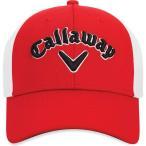 キャロウェイ Callaway メンズ 帽子 Mesh Fitted Golf Hat Red/Black
