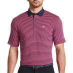 キャロウェイ Callaway メンズ ゴルフ 大きいサイズ ポロシャツ トップス 3-Color Striped Golf Polo - Big & Tall Boudoir Red
