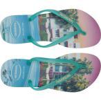 ハワイアナス Havaianas レディース ビーチサンダル シューズ・靴 Slim Paisage Flip Flops White/Light Green