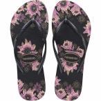 ハワイアナス Havaianas レディース ビーチサンダル シューズ・靴 Slim Organic Flip Flops Black/Dark Grey/Rose Gold