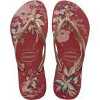 ハワイアナス Havaianas レディース ビーチサンダル シューズ・靴 Slim Organic Flip Flops Red/Rose Gold Metallic