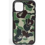 ア ベイシング エイプ A BATHING APE メンズ iPhoneケース Casetify x Bape ABC camo-printed iPhone 11 Pro case Green