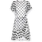 �ɥ����&���åС��� ��ǥ����� ���ԡ��� ���ԡ������ɥ쥹 Polka-dotted silk dress Pois Nero Fondo Bianco
