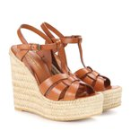 ���� �������� ��ǥ����� �����ѥɥ�� ���塼������ Leather espadrille wedge sandals ambra