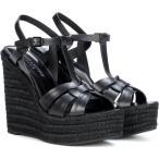 ���� �������� ��ǥ����� �����ѥɥ�� ���塼������ Espadrille 85 leather sandals Nero