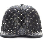 �������ƥ��� ��ǥ����� ����å� ˹�� Valentino Garavani Rockstud Spike leather cap Black
