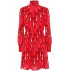 �������ƥ��� Valentino ��ǥ����� ���ԡ��� ���ԡ������ɥ쥹 Printed silk dress Zandra Lipstick Waves