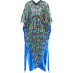 バレンシアガ Balenciaga レディース ビーチウェア 水着・ビーチウェア Floral-printed silk satin kaftan Electric Blue