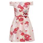 �ɥ����&���åС��� Dolce & Gabbana ��ǥ����� ���ԡ��� ���ԡ������ɥ쥹 Off-the-shoulder jacquard dress Pink