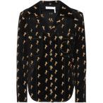 クロエ レディース ブラウス・シャツ トップス Embroidered velvet shirt Black