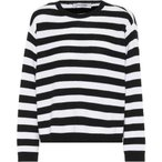�������ƥ��� ��ǥ����� �˥åȡ��������� �ȥåץ� Striped cashmere sweater Nero/Bianco