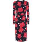 �ɥ����&���åС��� Dolce & Gabbana ��ǥ����� ���ԡ��� ���ԡ������ɥ쥹 Printed silk dress borsette fdo.nero