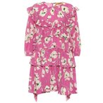 ����21 N?21 ��ǥ����� ���ԡ��� ���ԡ������ɥ쥹 Printed silk dress pink