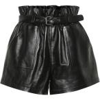 ���� �������� Saint Laurent ��ǥ����� ���硼�ȥѥ�� �ܥȥॹ���ѥ�� High-rise leather shorts Black