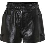 �����٥� �ޥ�� Isabel Marant ��ǥ����� ���硼�ȥѥ�� �ܥȥॹ���ѥ�� Xike high-rise leather shorts Black