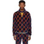 グッチ Gucci メンズ ジャージ アウター Blue Chenille GG Supreme Track Jacket