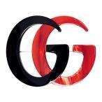グッチ Gucci レディース ブローチ ジュエリー・アクセサリー Black & Red GG Marmont Brooch