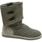 ショッピングスノーシューズ ベアパウ Bearpaw レディース スノー シューズ・靴 Knit Tall Triangle Button Boot Gray