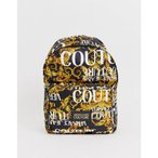 ヴェルサーチ Versace Jeans Couture メンズ バックパック・リュック バッグ backpack in 90s baroque logo Gold