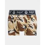 ベイシング エイプ AAPE BY A BATHING APE メンズ ボクサーパンツ インナー・下着 AAPE By A Bathing Ape stretch jersey boxers in beige camo