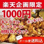 ポップコーン 1000円ポッキリ!キャラメル10人セット ポップコーン豆 フレーバー オイル