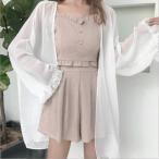 UVカット  レディース 長袖 涼しい  紫外線カット 日焼け対策 春 夏  薄手 UV対策 シフォン フリル袖 韓国風