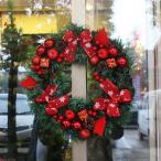 クリスマスリース 2個セット玄関ドア用 Xmasリース おしゃれ 松ぼっくり 40cm