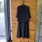 ブラックフォーマル 夏 礼服 レディ―ス L 13号 七分袖 マーメイド スカートスーツ