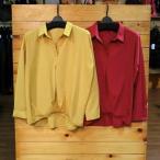 ブラウス スキッパ― ドロップショルダー 赤 フロントタック 後ろさがり 長袖