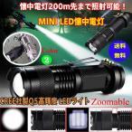 ネコポス送料無料 LEDライト 懐中電灯 200m先まで照射可能 コンパクトサイズで高出力 生活防水機能 LED懐中電灯 強力 ライト 防災グッズ コンパクト 小型 ハンデ