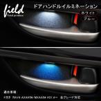 トヨタ RAV4 H31.4〜 全グレード対応 ドアハンドル LED増設キットルームランプ インナー ハンドルカバー 室内灯 室内 ランプ ライト ブルー ホワイト