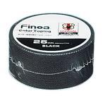 シュリンク FINOAカラーテープ25mm BK Finoa テーピング 固定用テープ  ( 1602 / MUT )(QBH33)