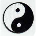 刺繍アイロンワッペン(陰陽/インヤン)