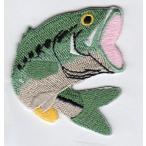 刺繍アイロンワッペン(BASS/ブラックバス)