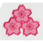 刺繍アイロンワッペン(サクラ/さくら/桜)