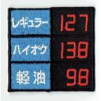 刺繍アイロンワッペン(ガソリン価格)
