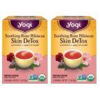 Yahoo!FIND GOOD USA ヤフー店送料無料 [お得な2個セット] ヨギティー Yogi Tea ローズハイビスカス スキンデトックス 16袋
