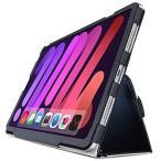 エレコム iPad mini 第6世代 (2021年モデル) ケース 軽量 Apple Pencilホルダー付 2アングル スタンド ハンドホールドベルト付 レザー ブラック TB-A21SPLFBK