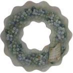 トールペイント図案付白木素材 アジサイのグリーンリース