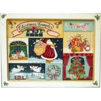 トールペイント図案付白木素材 クリスマスサンプラー(プレート8枚付)