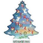 トールペイント図案付白木素材 天使のクリスマスツリー