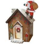 トールペイント図案付白木素材  ロールティシュのクリスマスハウス