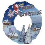 トールペイント図案付白木素材  クリスマスリース もみの木