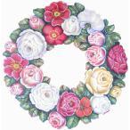 トールペイント図案付白木素材  バラのリース