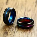 指輪 メンズ 黒 ブラック タングステン リング